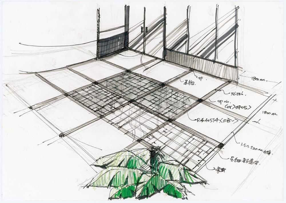 阳台平面图手绘